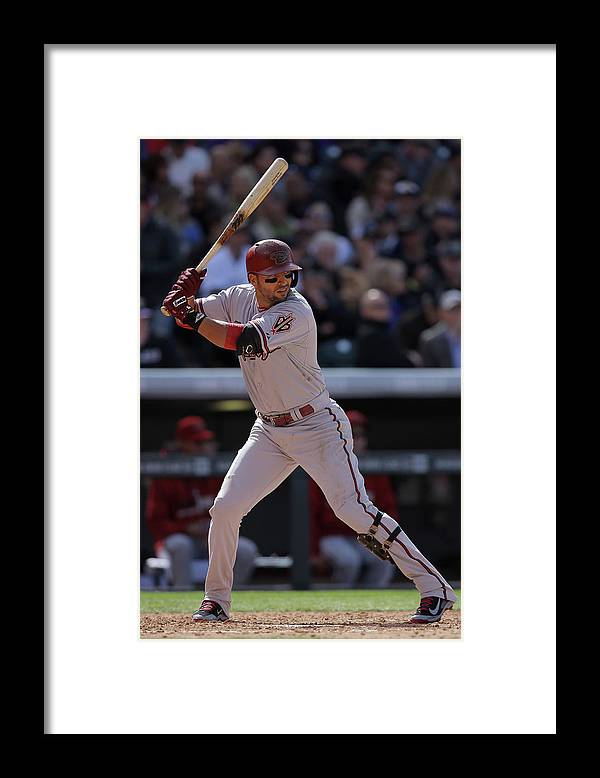 National League Baseball Framed Print featuring the photograph Martin Prado by Doug Pensinger