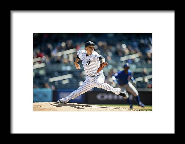 American League Baseball Framed Print featuring the photograph Masahiro Tanaka by Rob Tringali