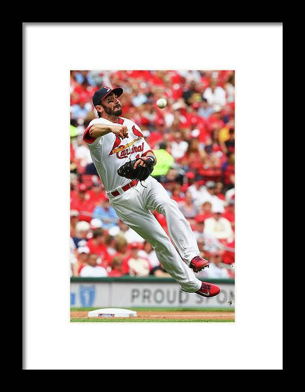 St. Louis Cardinals Framed Print featuring the photograph Matt Carpenter by Dilip Vishwanat