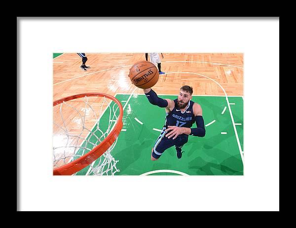 Nba Pro Basketball Framed Print featuring the photograph Memphis Grizzlies v Boston Celtics by Brian Babineau