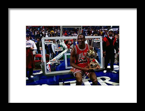 Chicago Bulls Framed Print featuring the photograph Michael Jordan by Andrew D. Bernstein