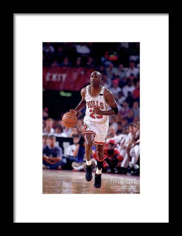 Chicago Bulls Framed Print featuring the photograph Michael Jordan by Nathaniel S. Butler