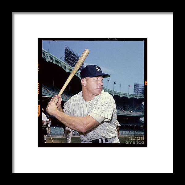 American League Baseball Framed Print featuring the photograph Mickey Mantle by Louis Requena
