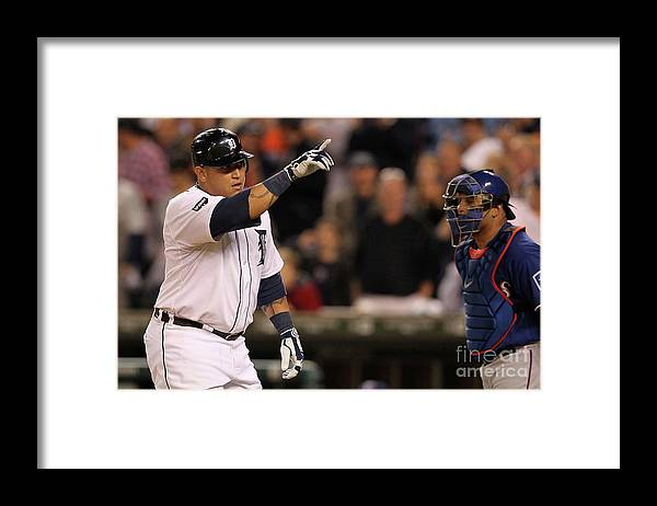 People Framed Print featuring the photograph Miguel Cabrera by Leon Halip