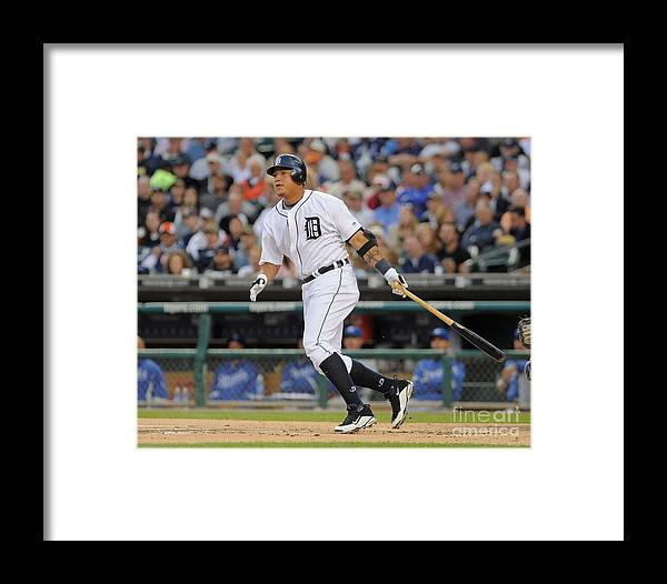 American League Baseball Framed Print featuring the photograph Miguel Cabrera by Mark Cunningham