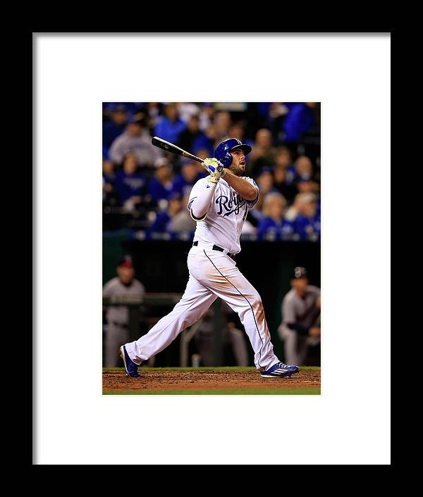 People Framed Print featuring the photograph Mike Moustakas by Jamie Squire