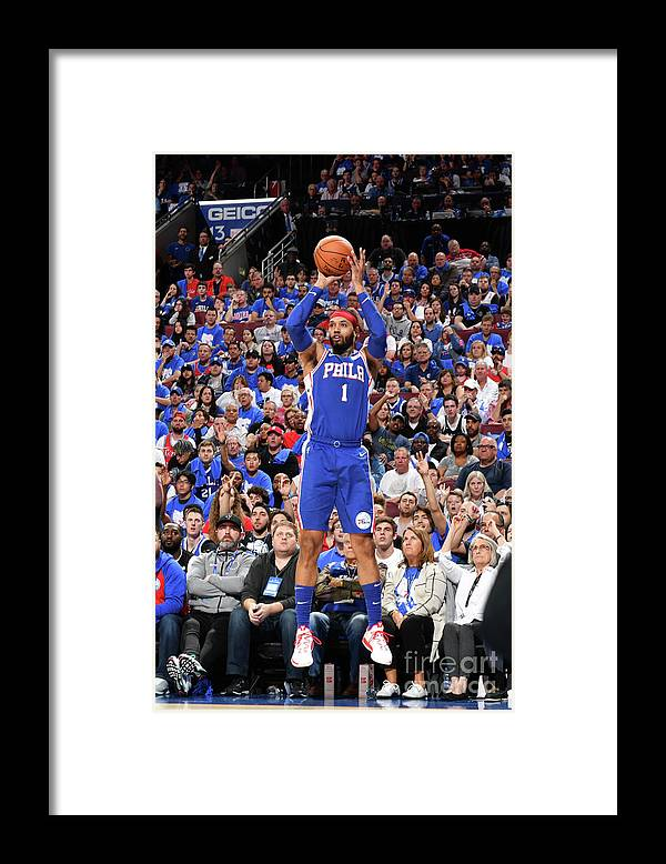 Playoffs Framed Print featuring the photograph Mike Scott by Jesse D. Garrabrant