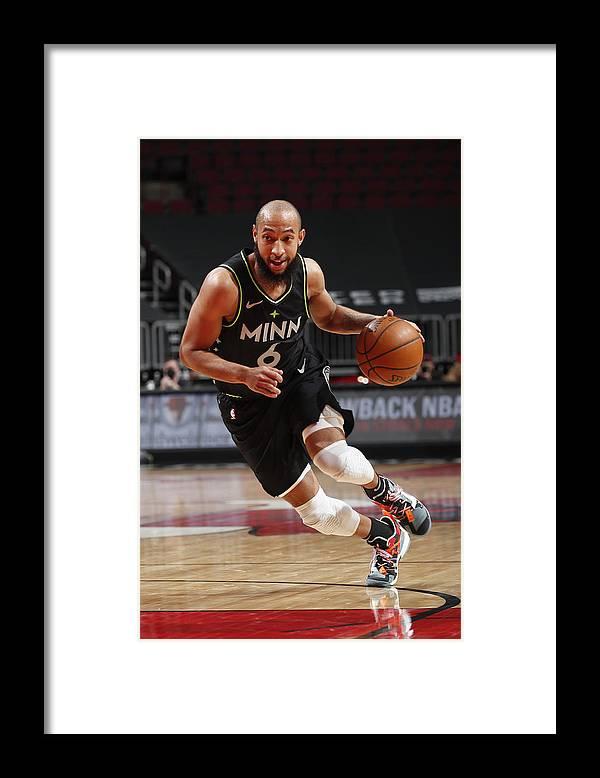 Nba Pro Basketball Framed Print featuring the photograph Minnesota Timberwolves v Chicago Bulls by Jeff Haynes