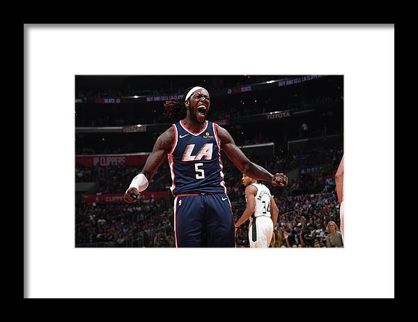 Nba Pro Basketball Framed Print featuring the photograph Montrezl Harrell by Adam Pantozzi
