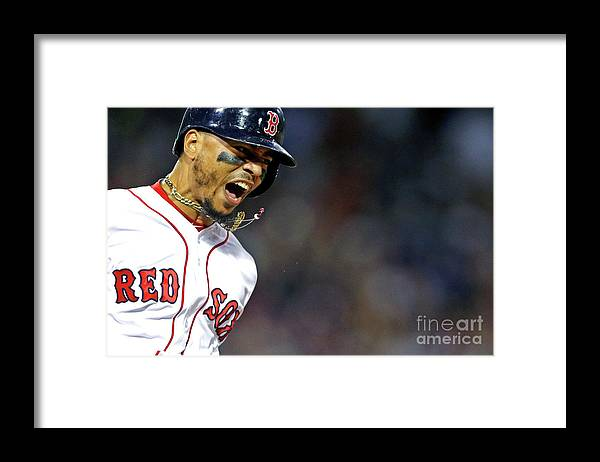 People Framed Print featuring the photograph Mookie Betts by Maddie Meyer