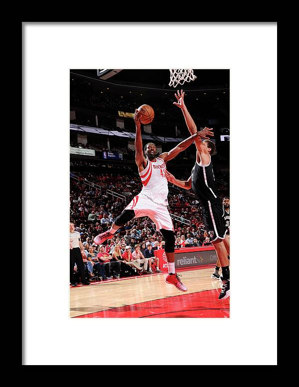 Nba Pro Basketball Framed Print featuring the photograph Nene Hilario by Bill Baptist