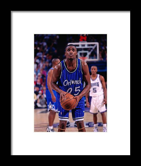 Nba Pro Basketball Framed Print featuring the photograph Nick Anderson by Rocky Widner