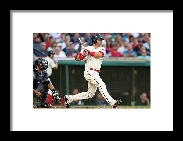 Second Inning Framed Print featuring the photograph Nick Swisher by Jason Miller