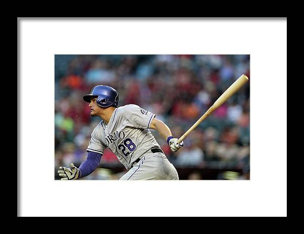 National League Baseball Framed Print featuring the photograph Nolan Arenado by Christian Petersen
