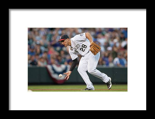 Ball Framed Print featuring the photograph Nolan Arenado by Dustin Bradford