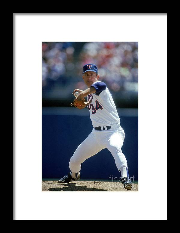 1980-1989 Framed Print featuring the photograph Nolan Ryan by Louis Deluca