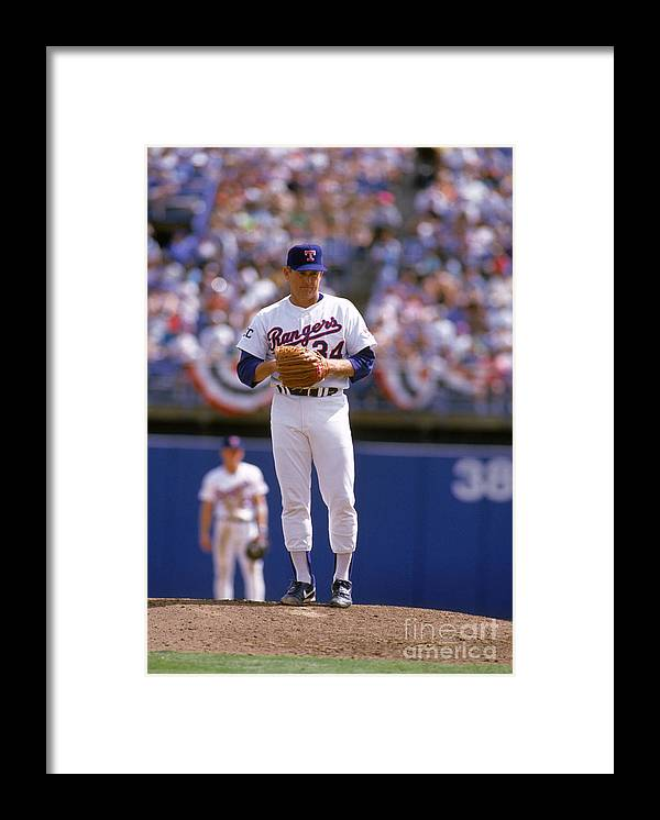 American League Baseball Framed Print featuring the photograph Nolan Ryan by Rich Pilling