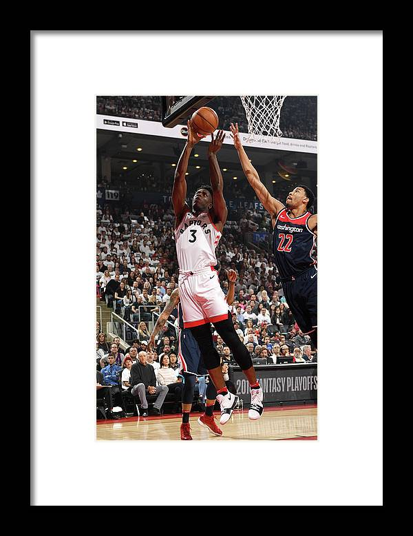 Playoffs Framed Print featuring the photograph Og Anunoby by Ron Turenne
