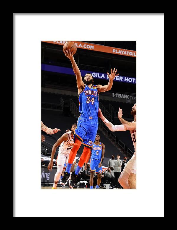 Nba Pro Basketball Framed Print featuring the photograph Oklahoma City Thunder v Phoenix Suns by Barry Gossage