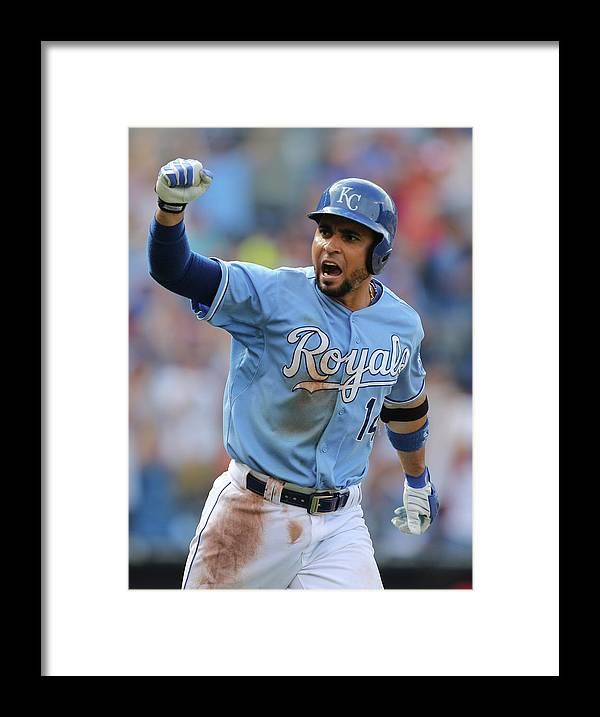 Ninth Inning Framed Print featuring the photograph Omar Infante by Ed Zurga