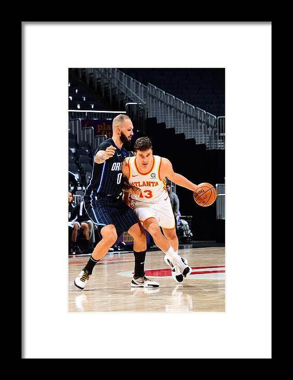 Atlanta Framed Print featuring the photograph Orlando Magic v Atlanta Hawks by Scott Cunningham