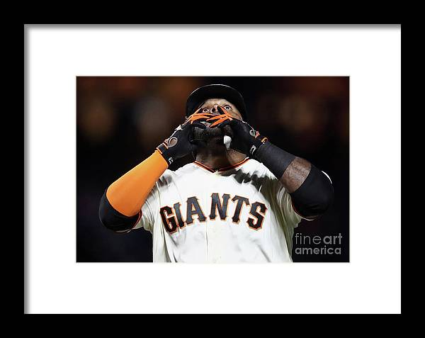 San Francisco Framed Print featuring the photograph Pablo Sandoval by Ezra Shaw