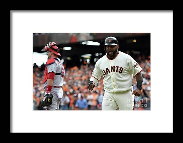 Playoffs Framed Print featuring the photograph Pablo Sandoval by Thearon W. Henderson