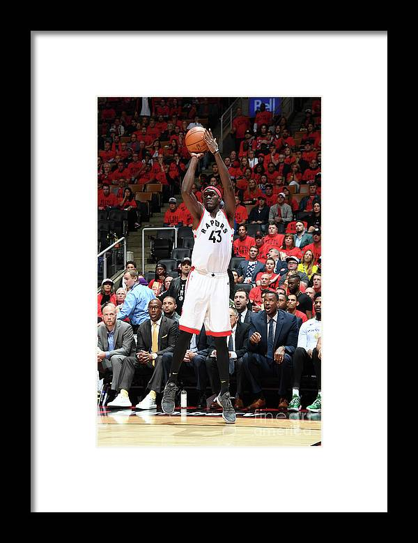 Playoffs Framed Print featuring the photograph Pascal Siakam by Andrew D. Bernstein