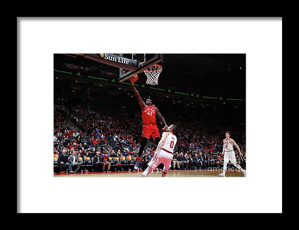 Nba Pro Basketball Framed Print featuring the photograph Pascal Siakam by Mark Blinch