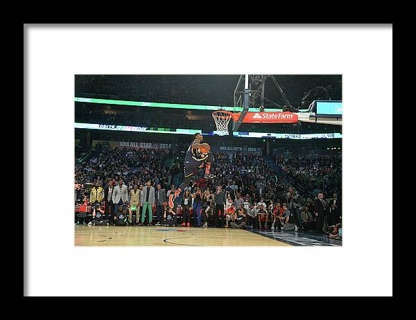 Smoothie King Center Framed Print featuring the photograph Paul George by Jesse D. Garrabrant