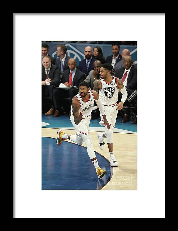 Nba Pro Basketball Framed Print featuring the photograph Paul George by Joe Murphy