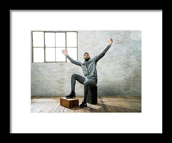 Nba Pro Basketball Framed Print featuring the photograph Paul George by Nathaniel S. Butler