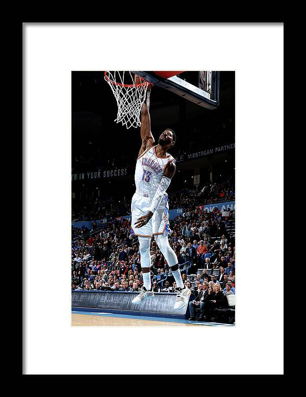 Nba Pro Basketball Framed Print featuring the photograph Paul George by Zach Beeker