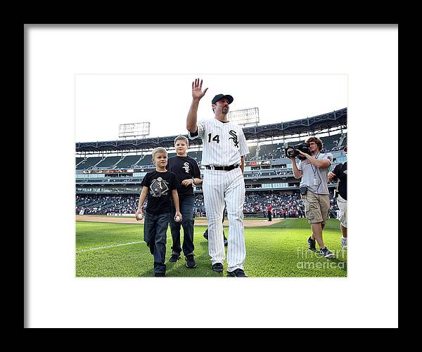 American League Baseball Framed Print featuring the photograph Paul Konerko by Tasos Katopodis