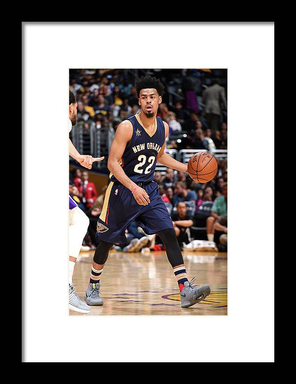 Nba Pro Basketball Framed Print featuring the photograph Quinn Cook by Andrew D. Bernstein