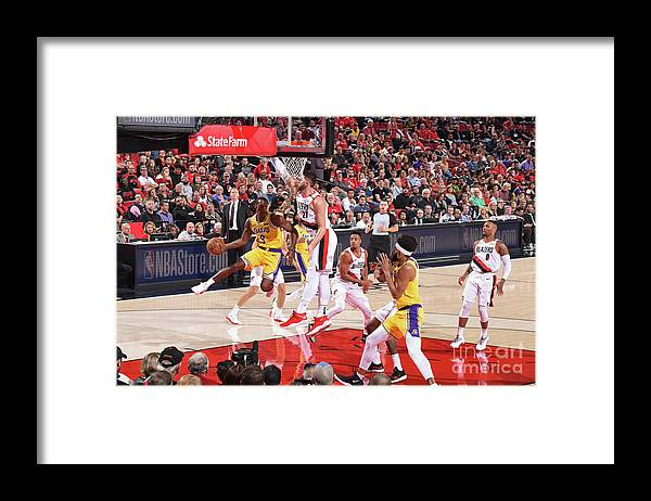 Nba Pro Basketball Framed Print featuring the photograph Rajon Rondo by Andrew D. Bernstein