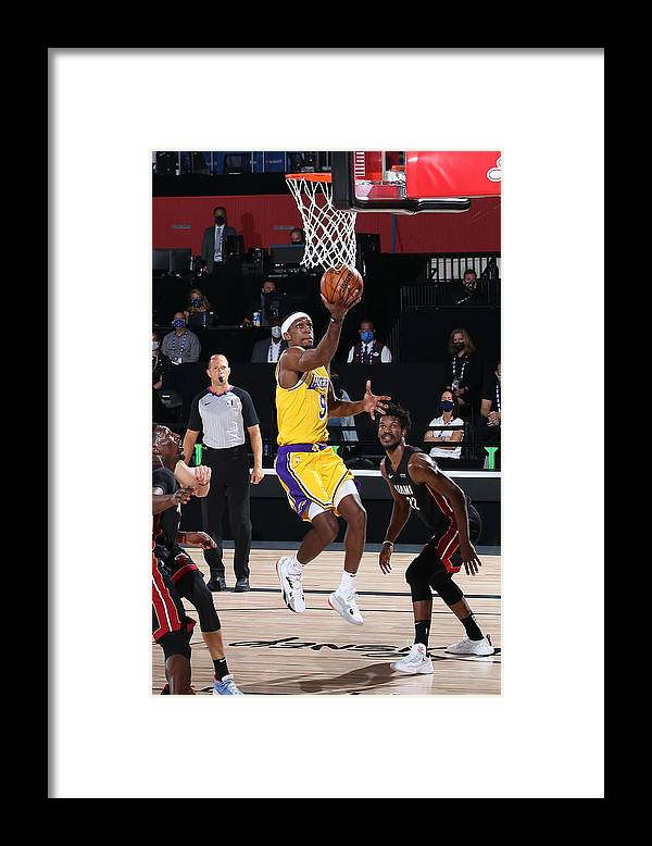 Playoffs Framed Print featuring the photograph Rajon Rondo by Nathaniel S. Butler