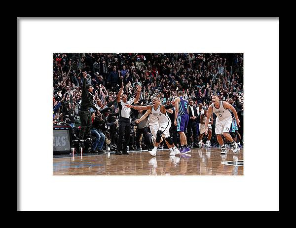 Nba Pro Basketball Framed Print featuring the photograph Randy Foye by Nathaniel S. Butler