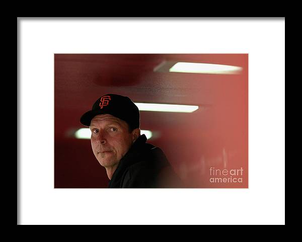 People Framed Print featuring the photograph Randy Johnson by Christian Petersen