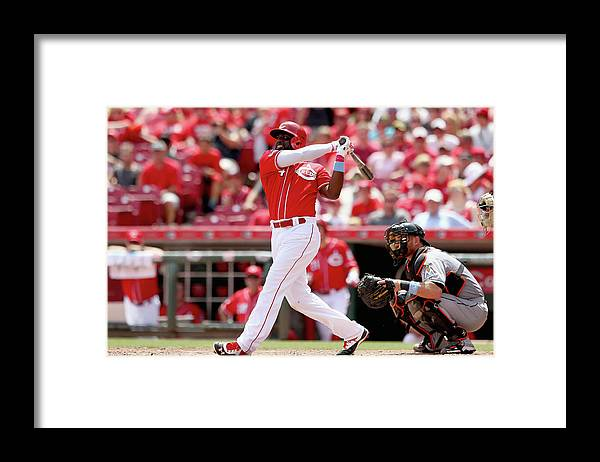 Great American Ball Park Framed Print featuring the photograph Red Phillips by Andy Lyons