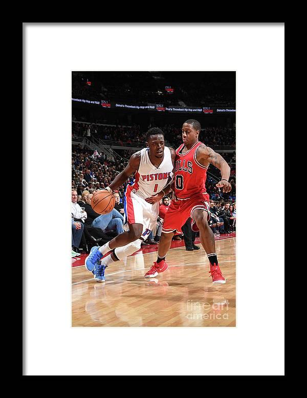 Nba Pro Basketball Framed Print featuring the photograph Reggie Jackson by Chris Schwegler