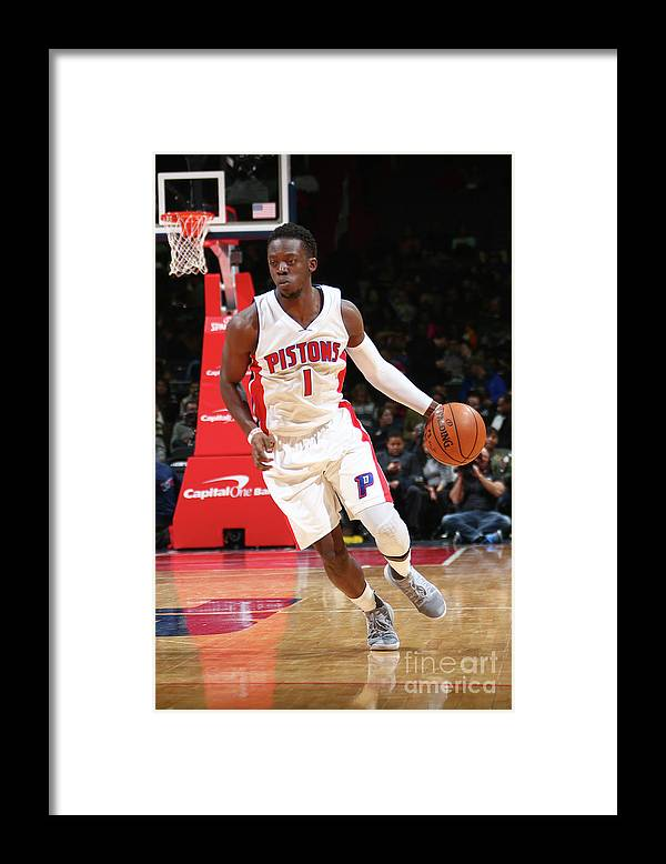 Nba Pro Basketball Framed Print featuring the photograph Reggie Jackson by Ned Dishman