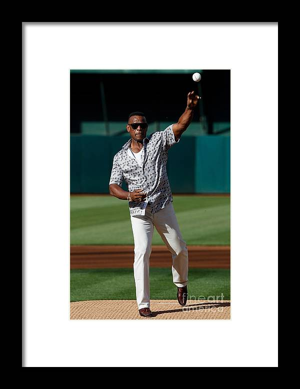 People Framed Print featuring the photograph Rickey Henderson by Jason O. Watson
