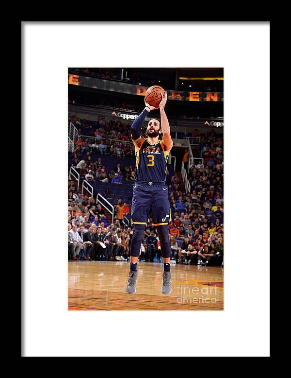 Nba Pro Basketball Framed Print featuring the photograph Ricky Rubio by Barry Gossage
