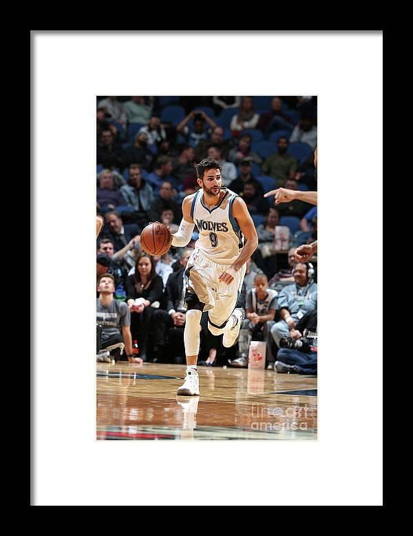 Nba Pro Basketball Framed Print featuring the photograph Ricky Rubio by David Sherman
