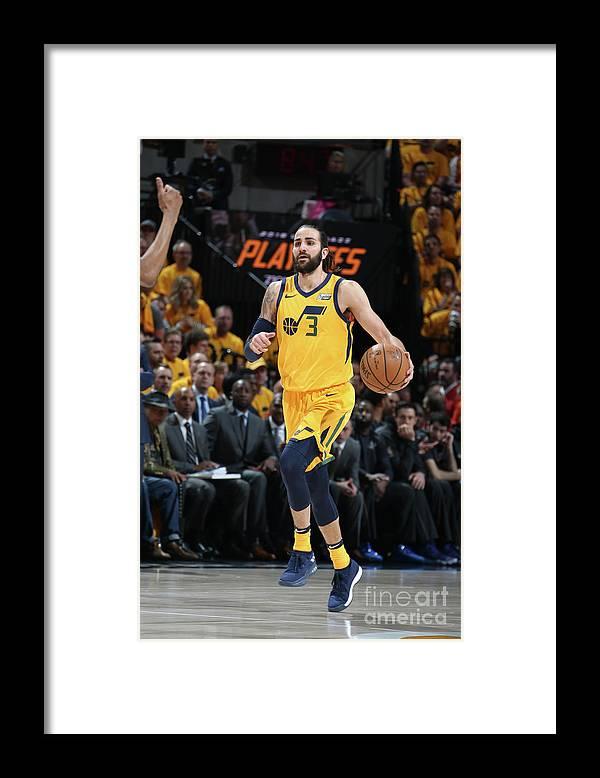 Playoffs Framed Print featuring the photograph Ricky Rubio by Melissa Majchrzak