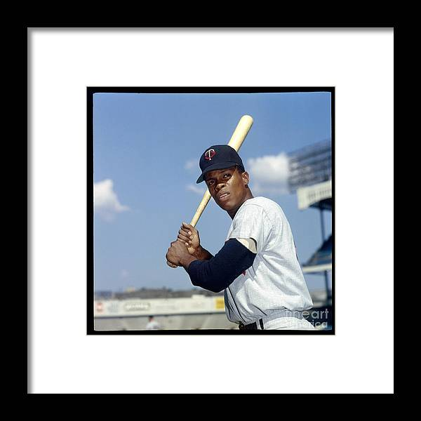 American League Baseball Framed Print featuring the photograph Rod Carew by Louis Requena