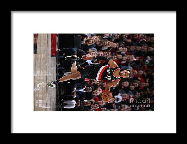 Nba Pro Basketball Framed Print featuring the photograph Rodney Hood by Sam Forencich