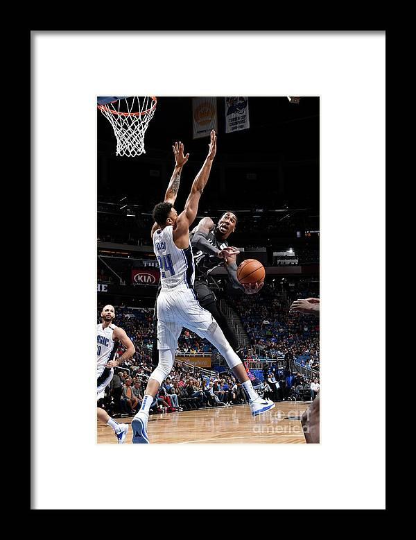 Nba Pro Basketball Framed Print featuring the photograph Rondae Hollis-jefferson by Fernando Medina