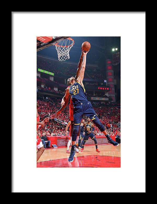 Playoffs Framed Print featuring the photograph Rudy Gobert by Bill Baptist